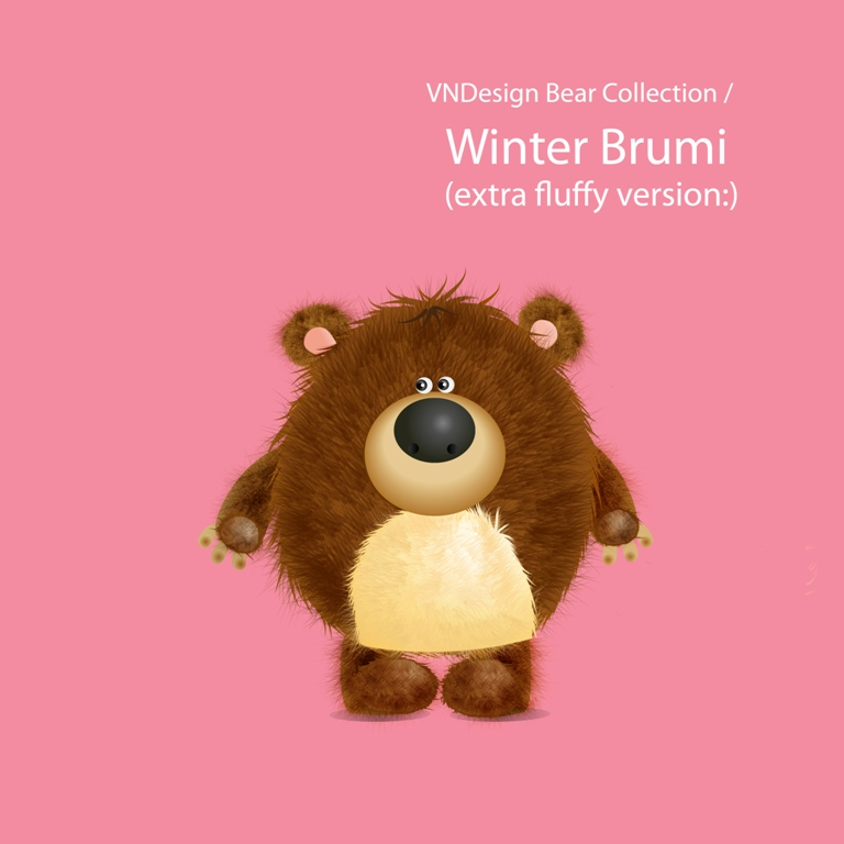 Brumi Winter Fluffy Bear